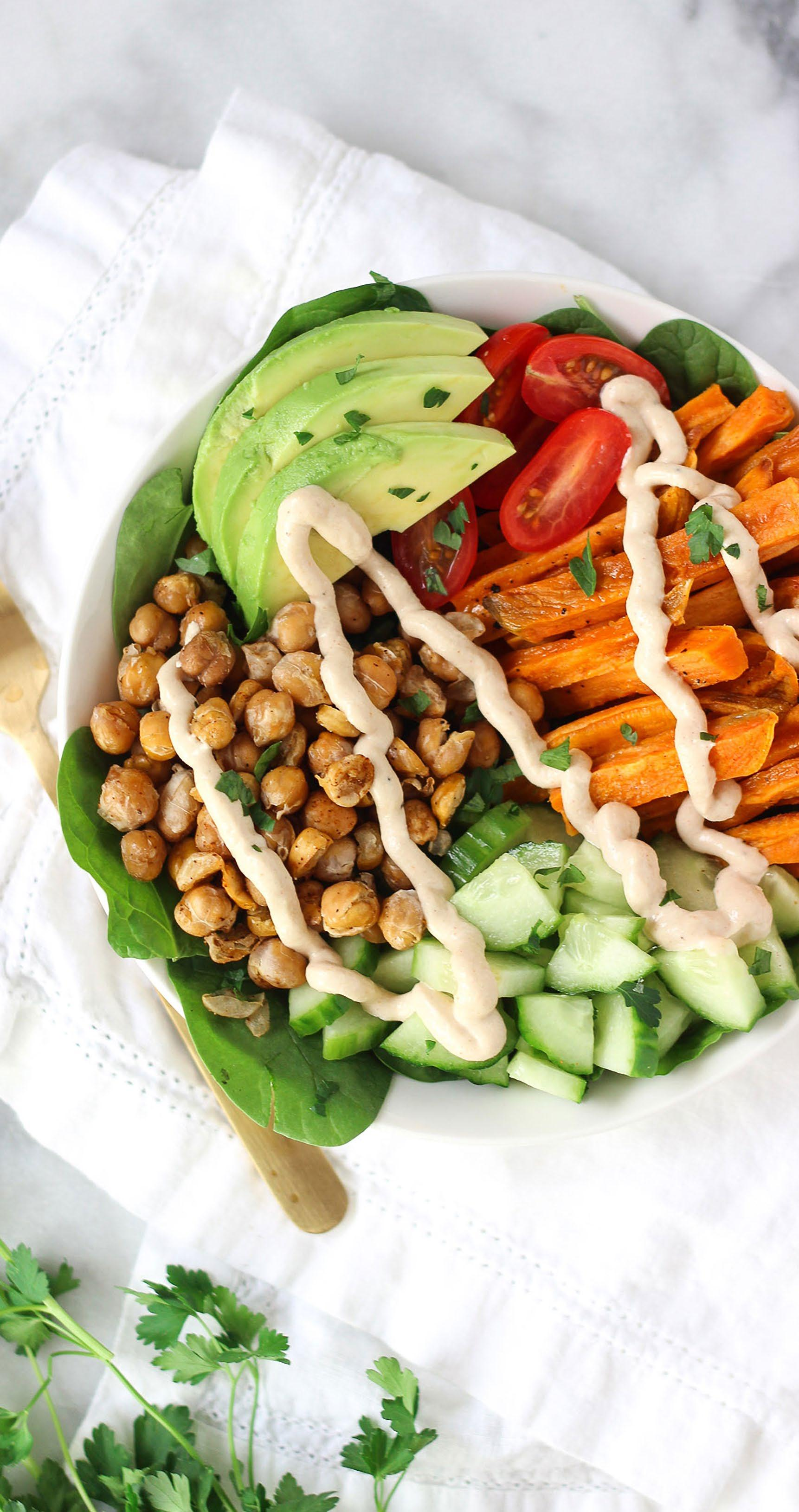 Page 54 of Falling for Folate: Roasted Chickpea Goddess Bowl
