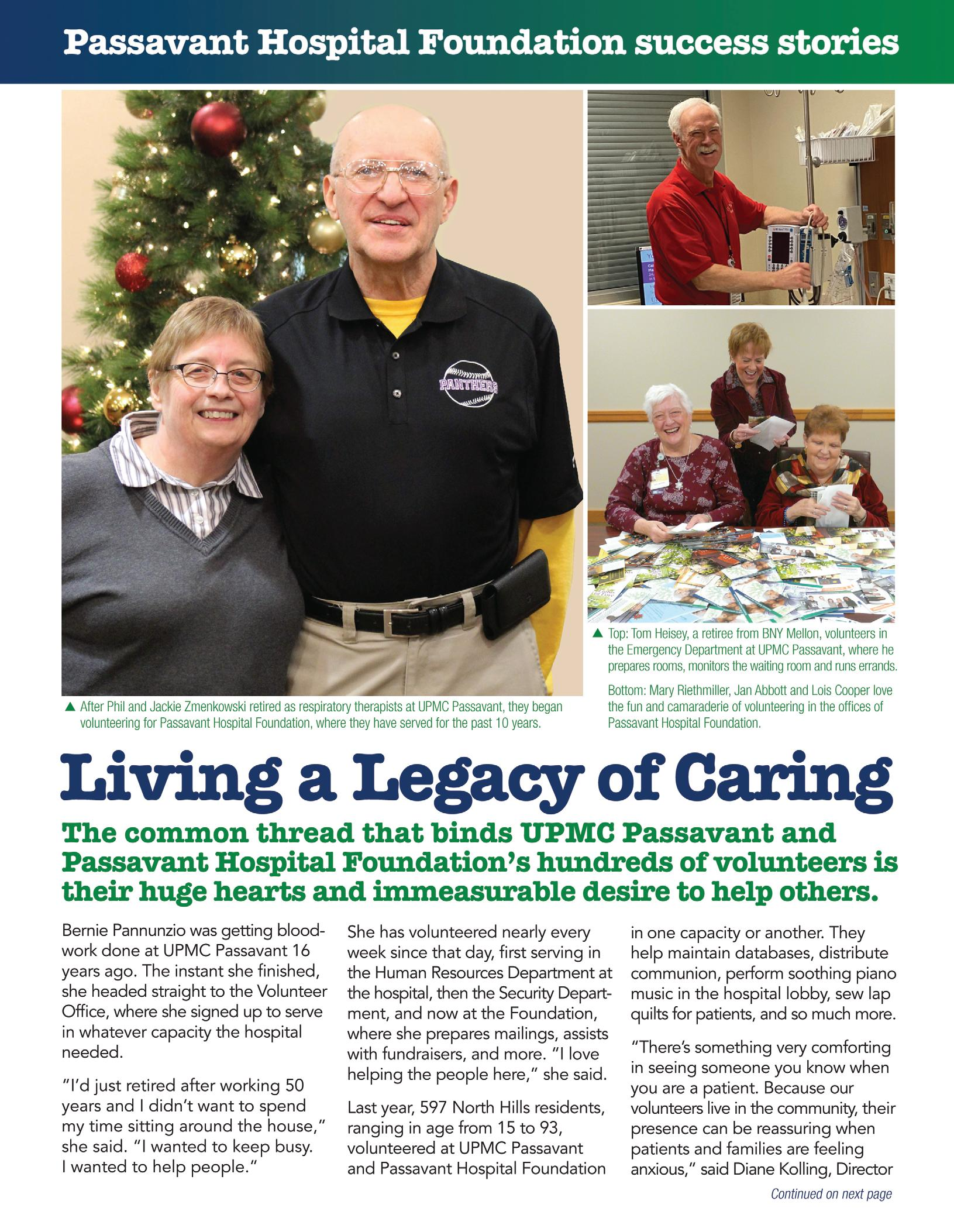 Page 12 of Cover Story: Living a Legacy of Caring Passavant Hospital
