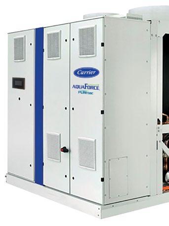 Page 16 of La enfriadora aire-agua con tecnología de compresión de Tornillo de velocidad variable y válvula Vi más eficiente de Carrier está ahora disponible en versión HFO, es la nueva gama 30KAVP-ZE, AquaForce Vision Puretec
