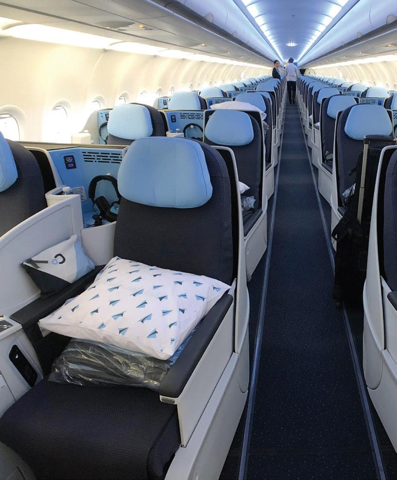 Page 12 of NEW SEATING HORIZONS Commercial aviation is entering the new year with one new aircraft poised for introduction, another posing uncertainty, but with buoyant demand for seating and companies ready to supply solutions