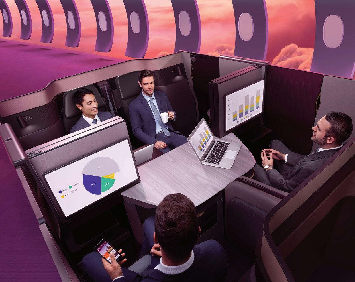 Page 20 of CONNECTING ABOVE THE CLOUDS Qatar Airways is the first airline in the Middle East to select Gogo 2Ku for its inflight connectivity system
