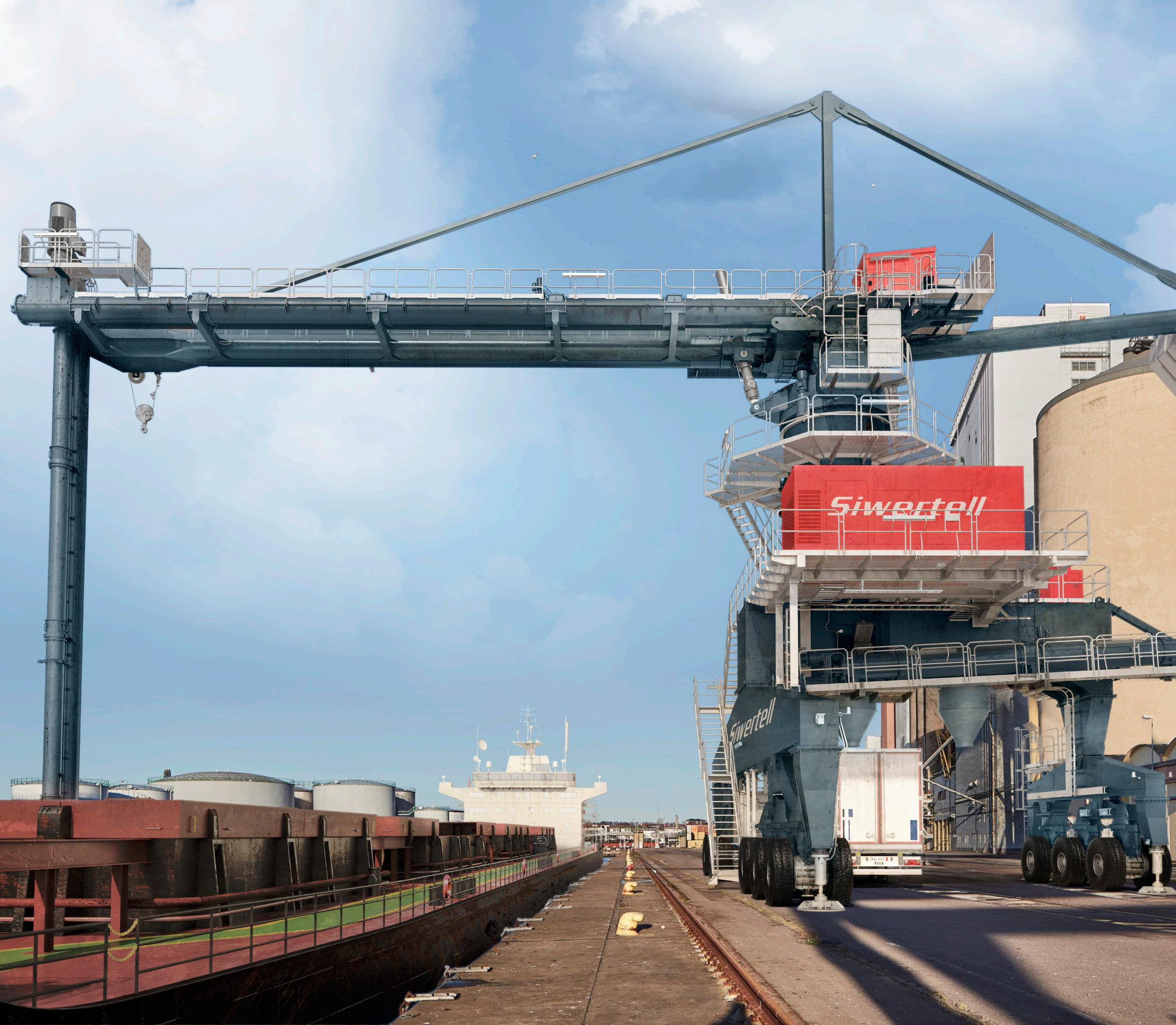 Page 1 of Port-mobile Siwertell grain unloader