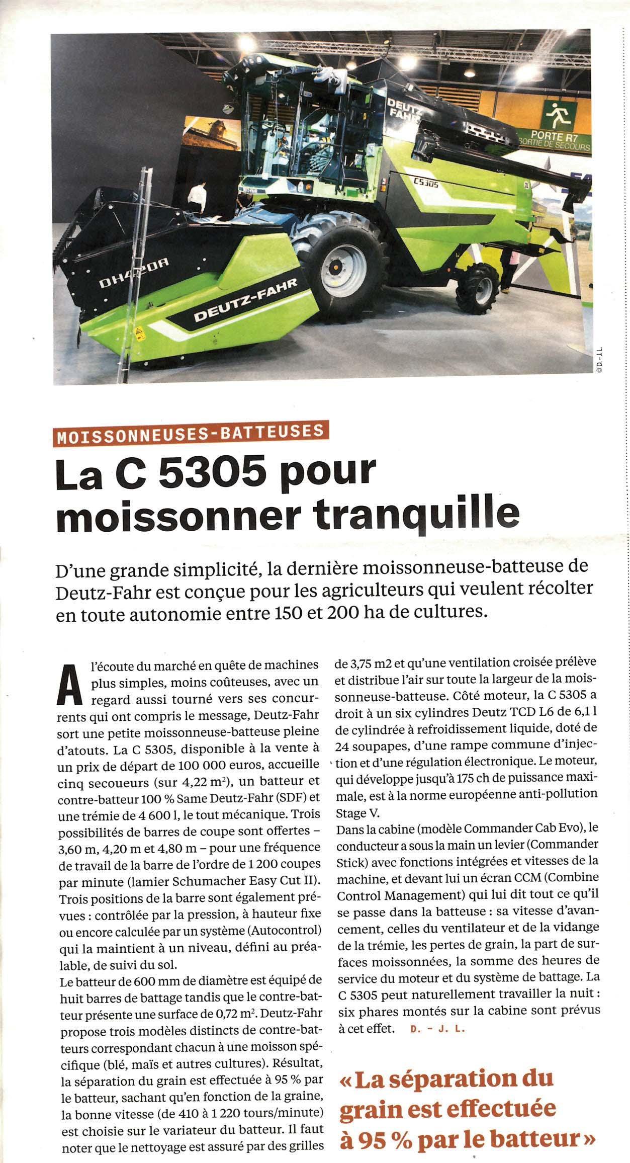 Page 46 of La C5305 pour moissonner tranquille