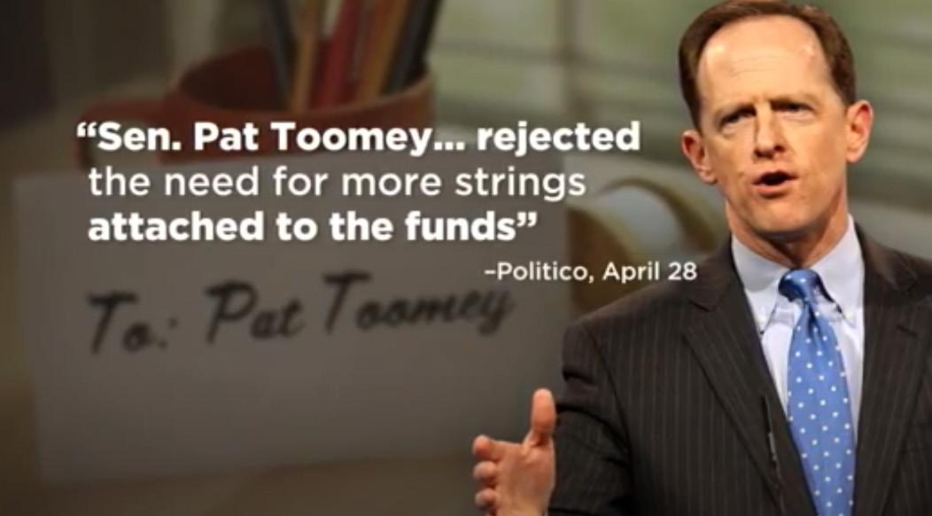 Page 14 of New ad dings Toomey on
