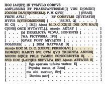 Page 28 of Epitafium (płyta nagrobna) Jakuba Długonikla