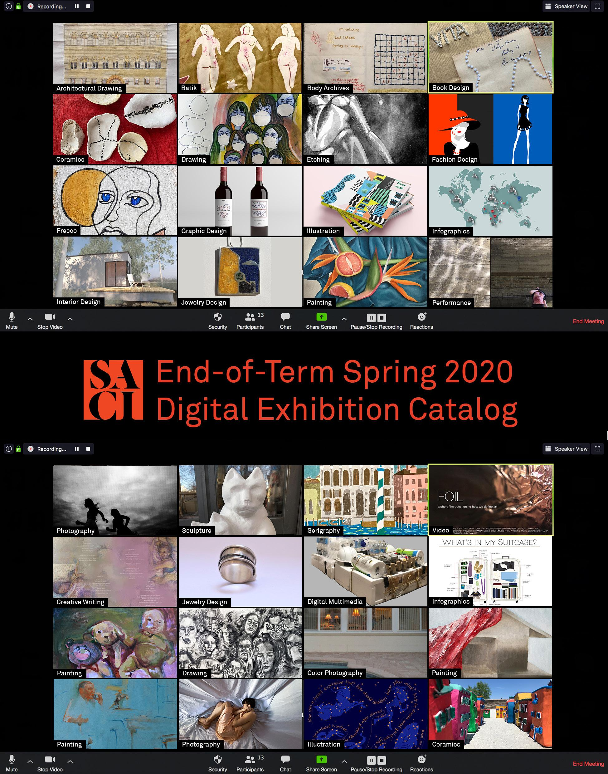Page 1 of End-of-Term Spring 2020 Digital Exhibition Catalog