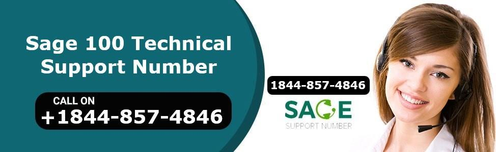 Page 1 of Sage 100 Technical Support Number +1844-857-4846
