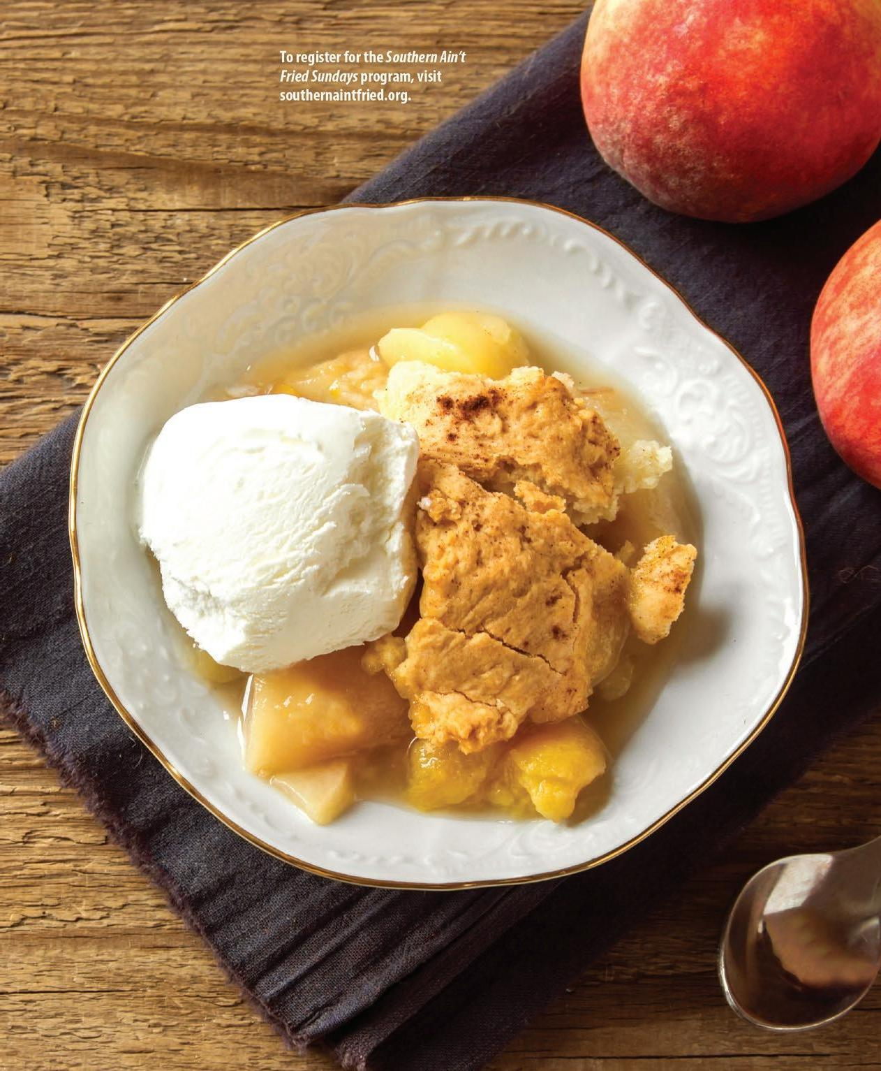 Page 14 of Trim the calories but none of the flavor with peach cobbler
