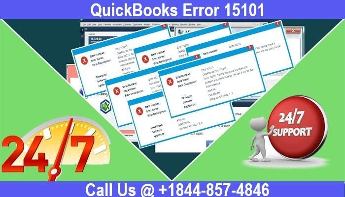 Page 1 of How to Fix QuickBooks Error 15101 Yourself Easily –1844-857-4846