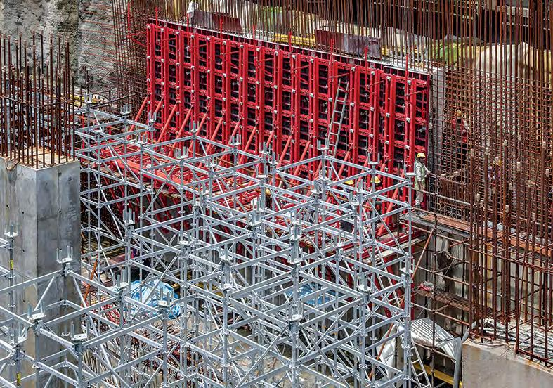 Page 46 of Assisting in the construction of Asia's largest underground metro station Comprehensive formwork and scaffolding solutions were developed for the project in India