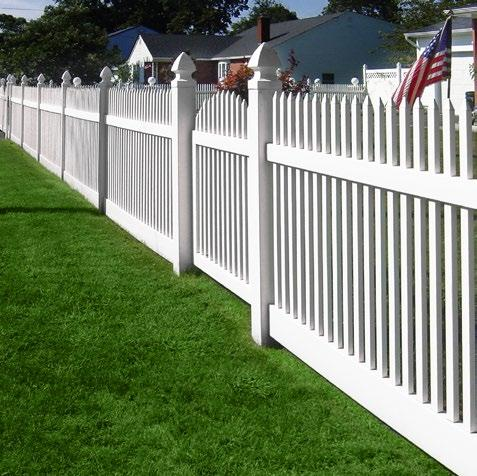 72 Pvc Vinyl Colonial Swoop Picket Fence White 4 X8 Posts Caps Vinylfencer 울타리