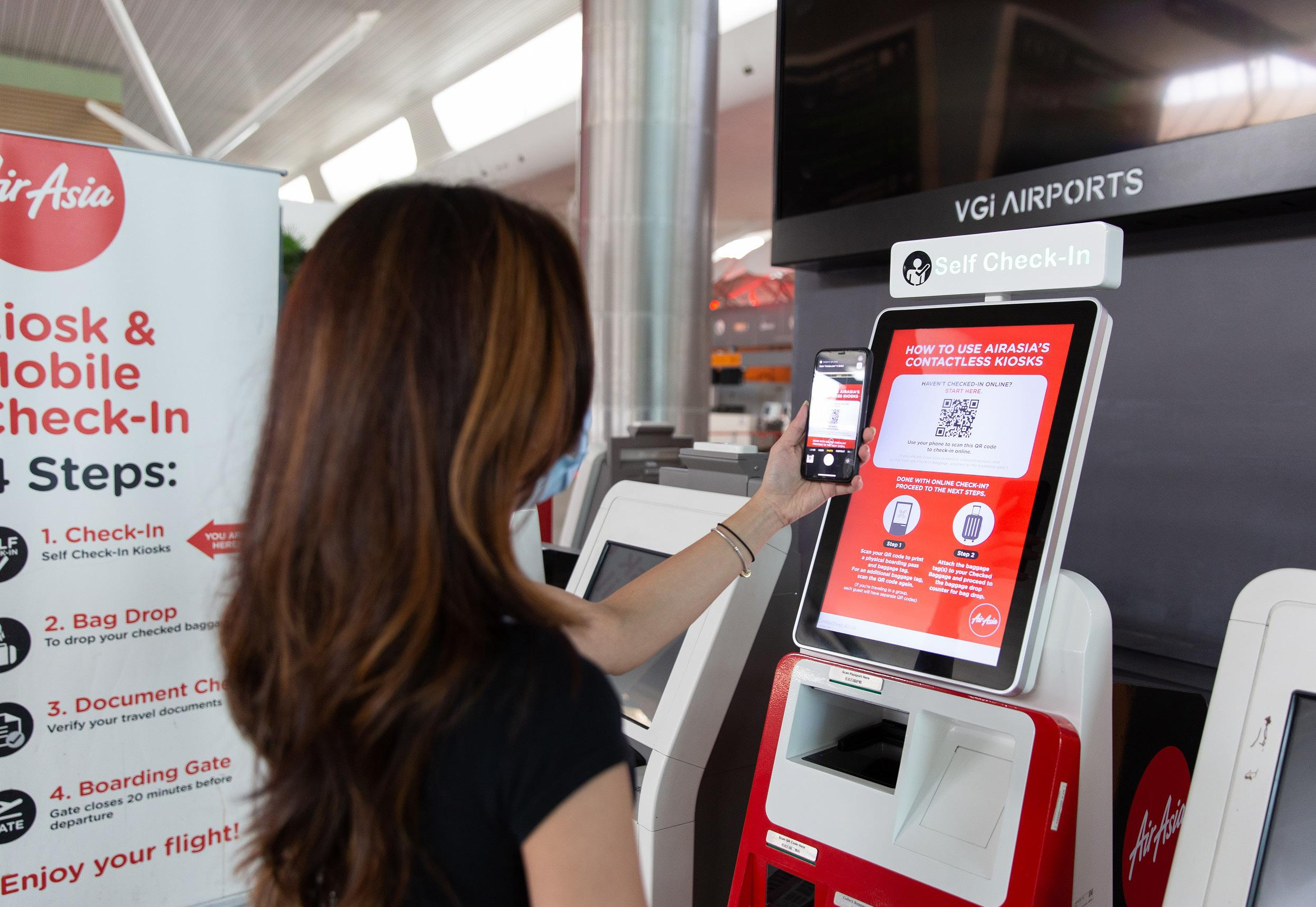 Page 18 of HANDS OFF FOR HEALTH AirAsia has entered what many consider an important component to future air travel with a series of features that utilize technology and help passengers feel safe getting back in the air