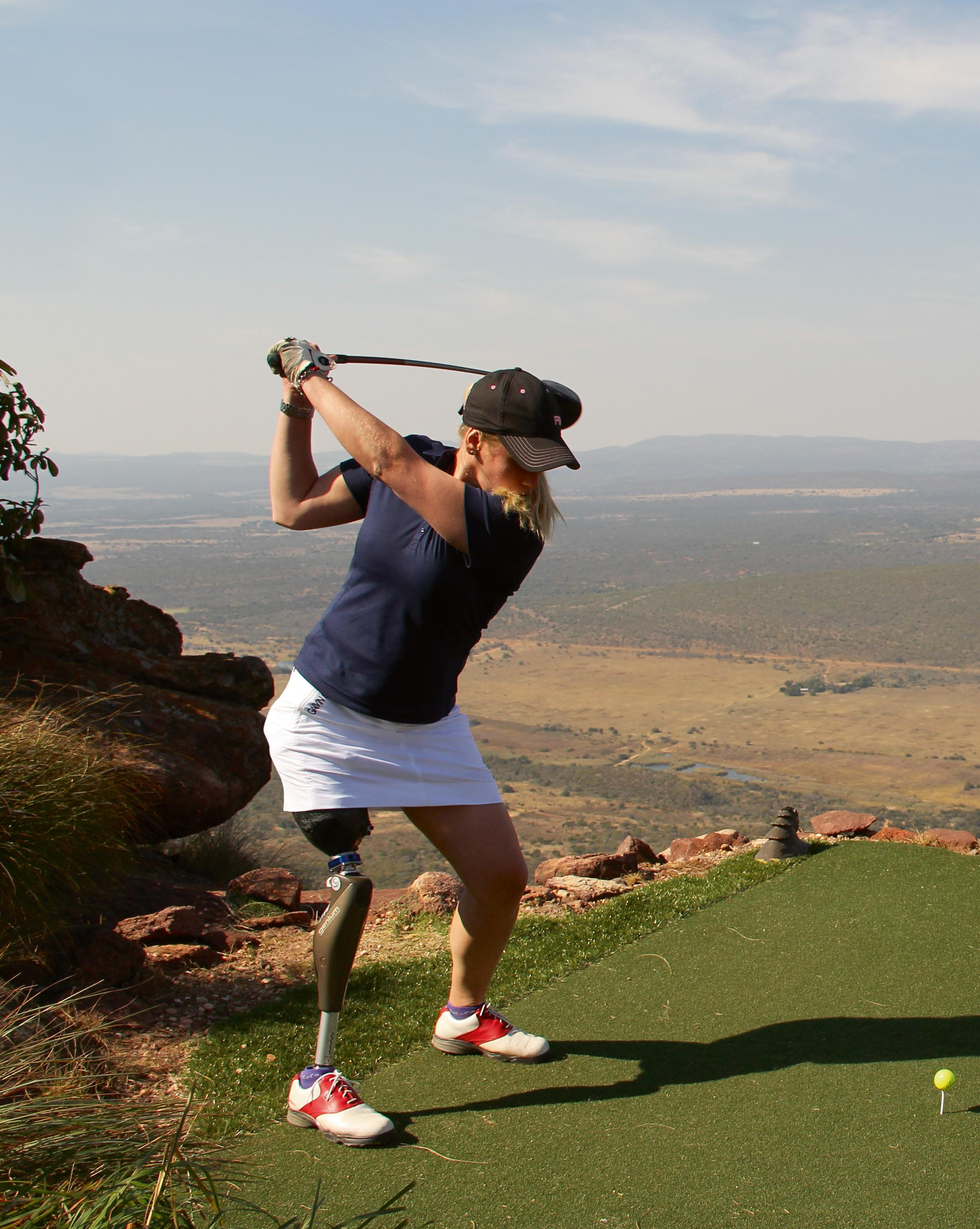Page 14 of Facing the unknown Swedish professional golfer Caroline Mohr fought her way back onto the course after she had to have one of her legs amputated