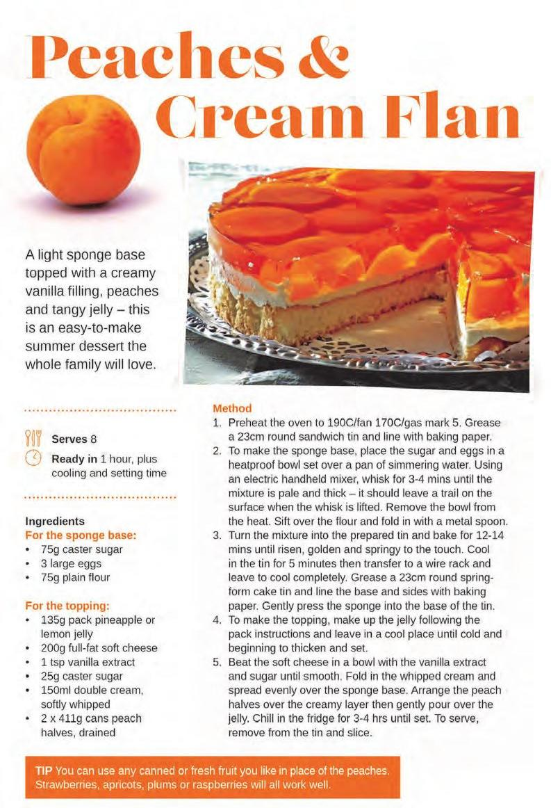 Page 18 of Cake and Bake: Peaches & Cream Flan