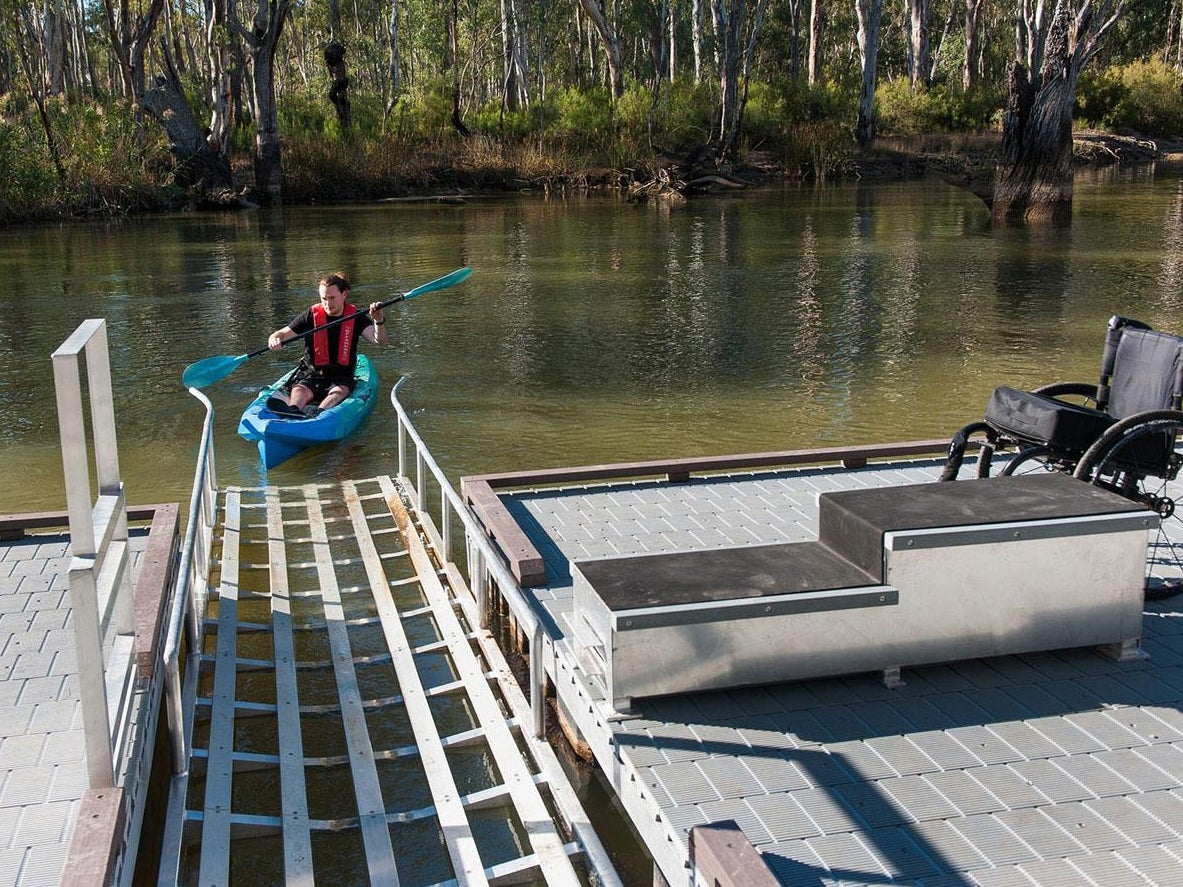 Page 28 of Access in NSW National Parks: a best practice example of Edward River Bridge's canoe and kayak launch
