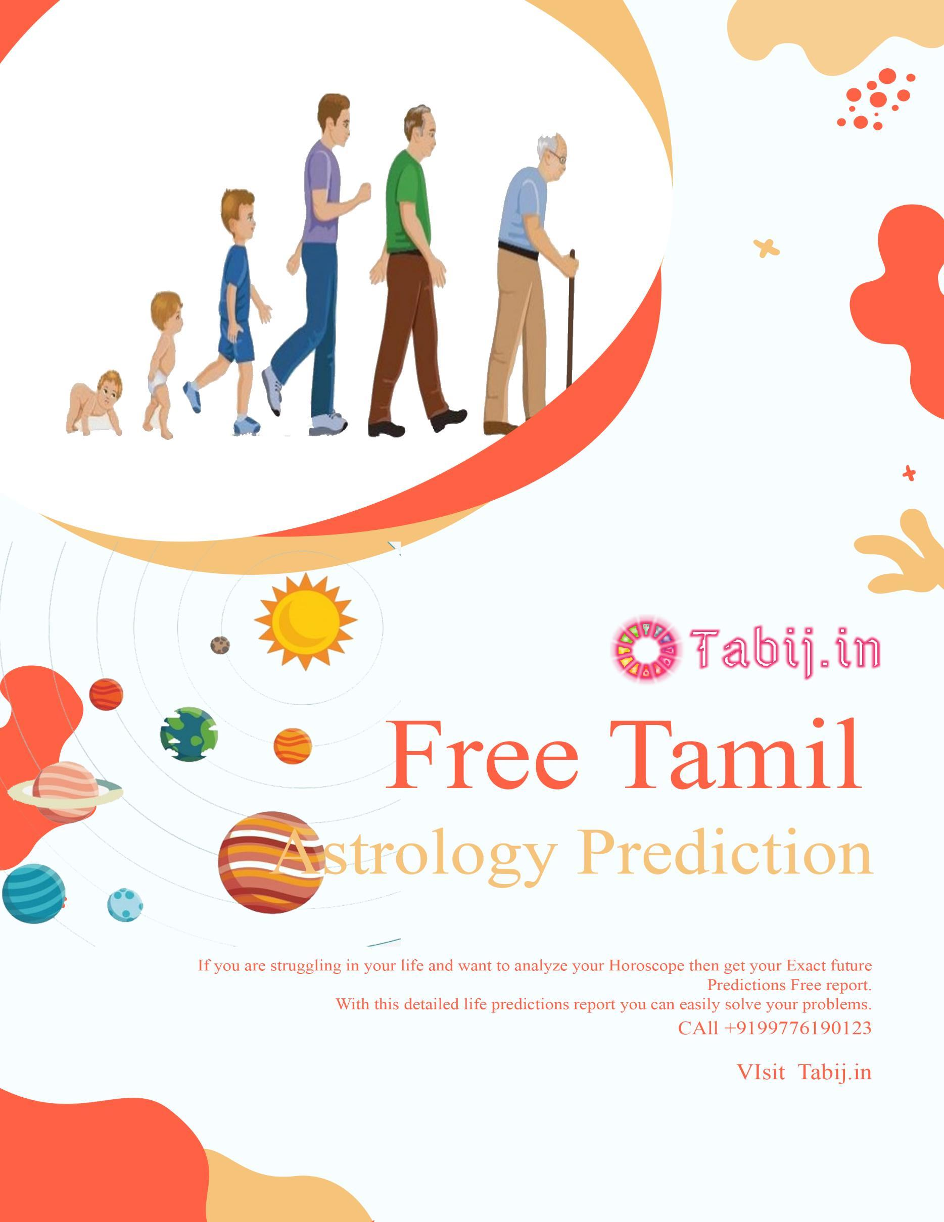 Free Tamil astrology: Get accurate full life prediction by
