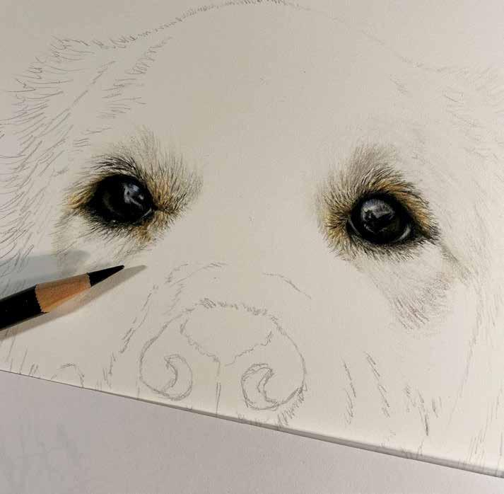 Page 32 of Bringing a Drawing to Life: The Art of Genevieve Bieque Self-taught artist, Genevieve Bieque, drives a