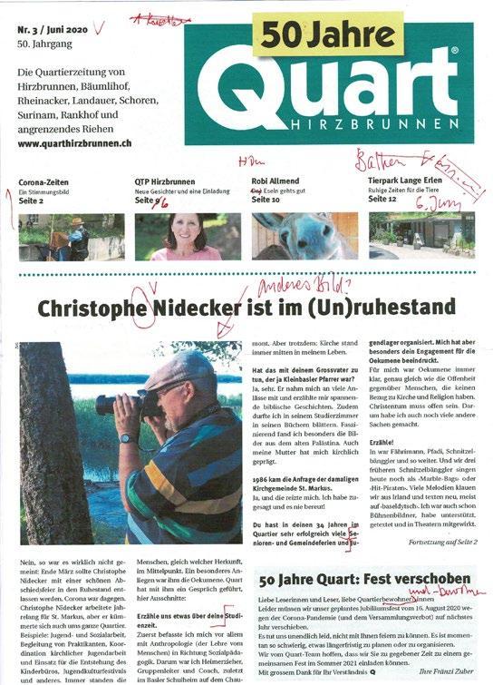 Page 14 of Die Blattmacher: Wie entsteht eine Quart-Ausgabe?