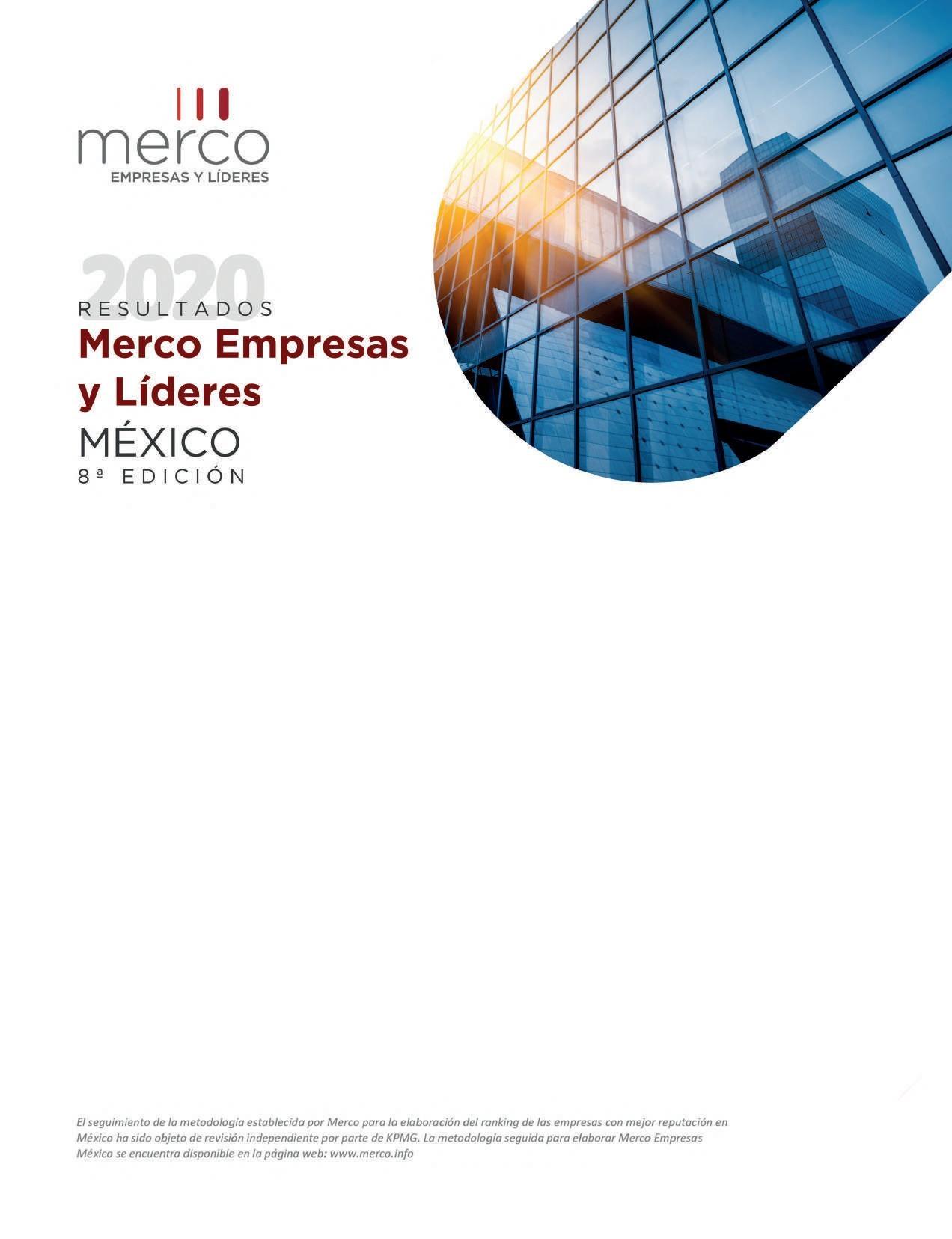 Page 14 of Resultados 2020 MERCO Empresas y Líderes México 8a. edición.