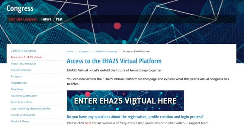 "Page 18 of EHA25 Virtual"" - en personlig betraktels"