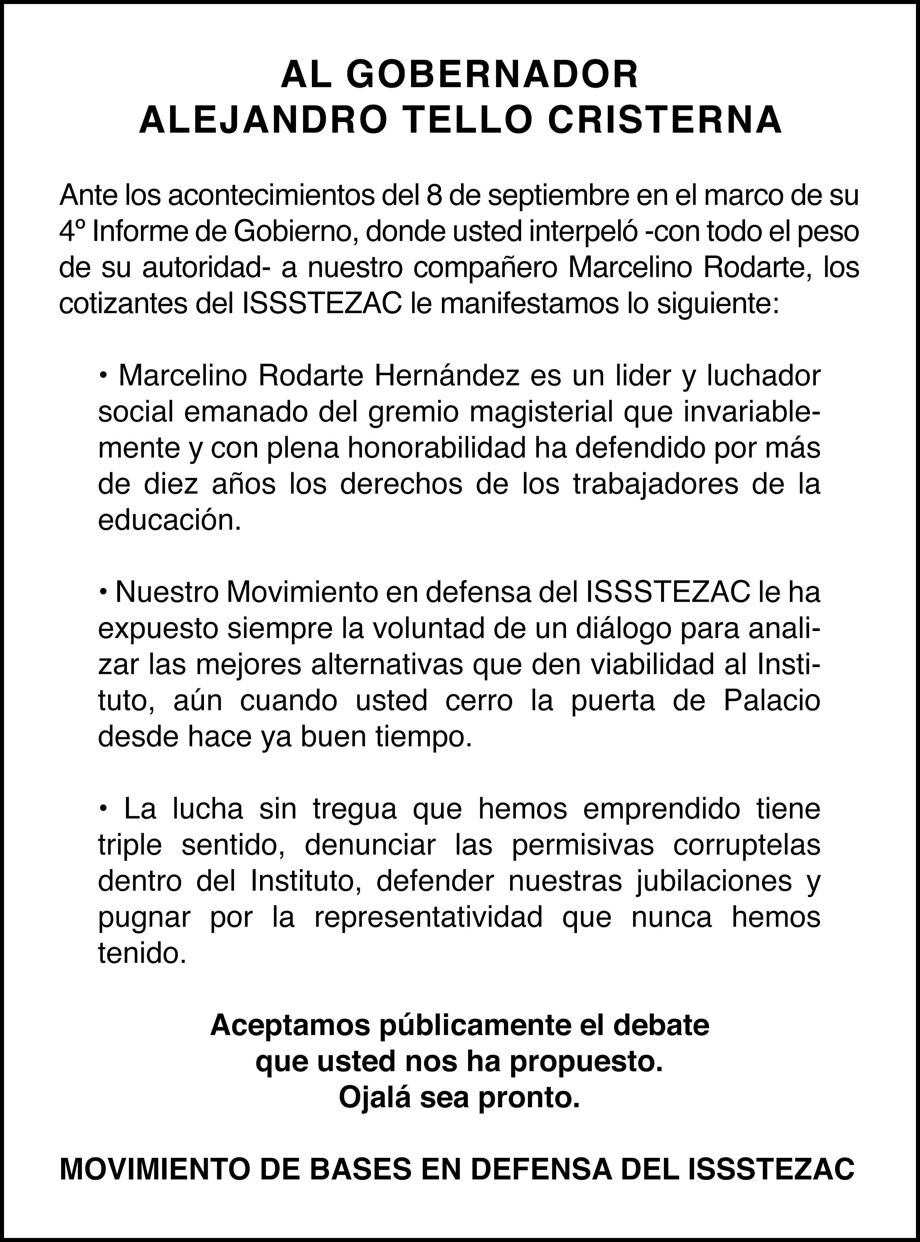 Page 6 of Jubilados de Issstezac llaman al diálogo al gobernador Alejandro