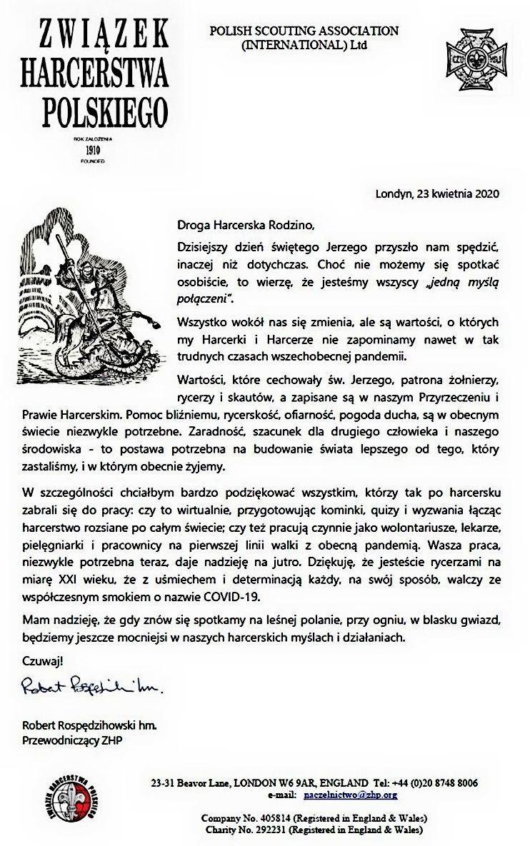 Page 80 of List Przewodniczącego ZHP na dzień św. Jerzego ................................... LV zebranie Naczelnej Rady Harcerskiej