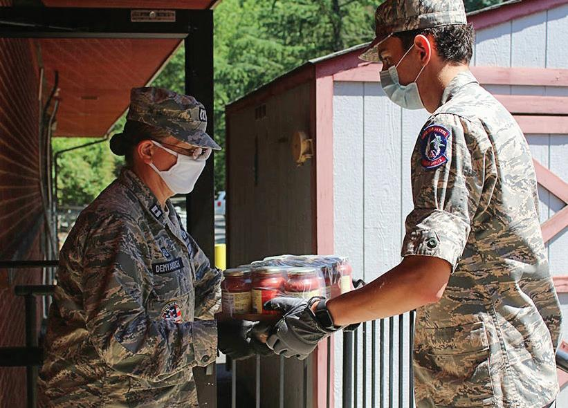 Page 5 of Civil Air Patrol cadets help deliver food