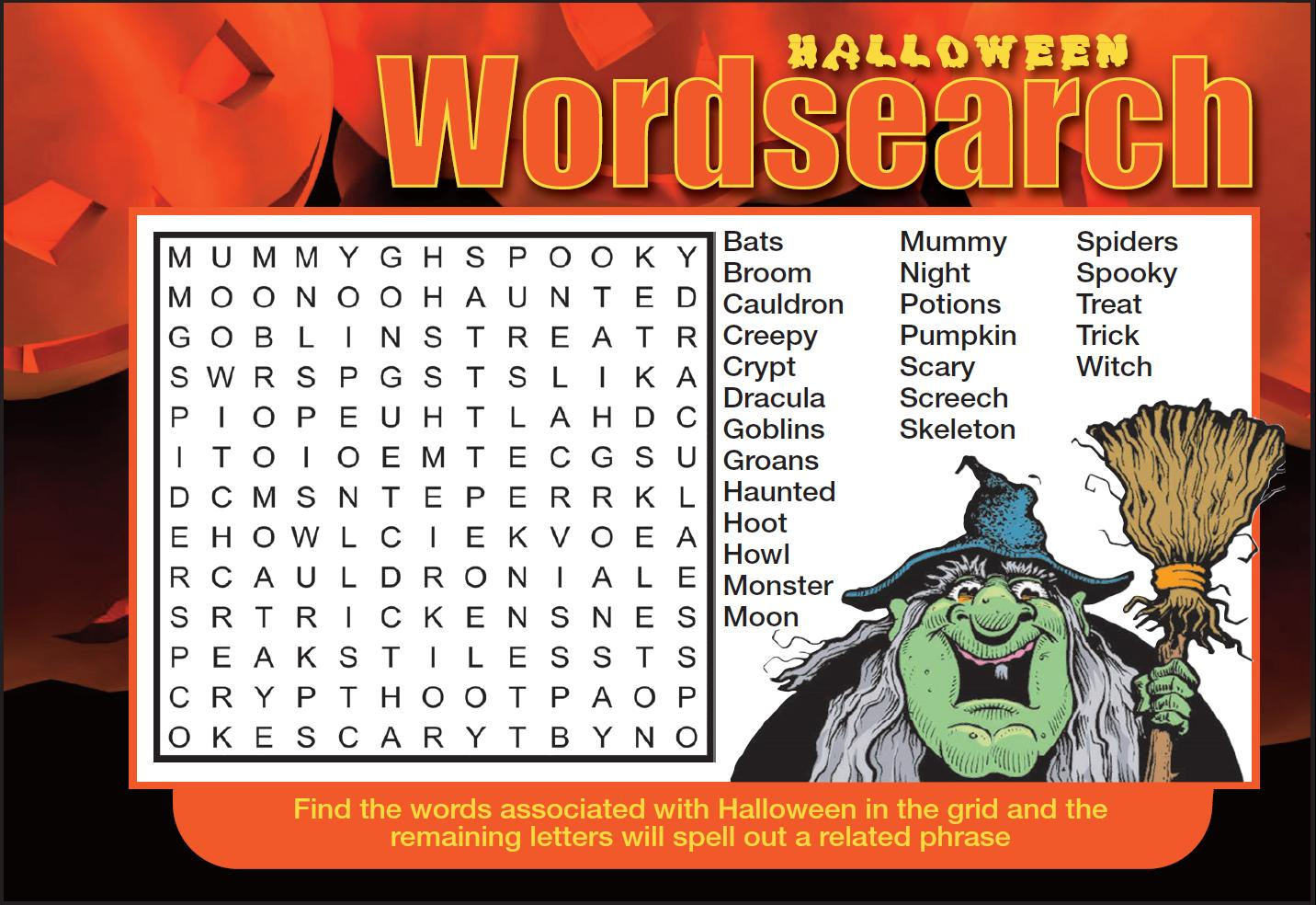 Page 37 of Halloween wordsearch