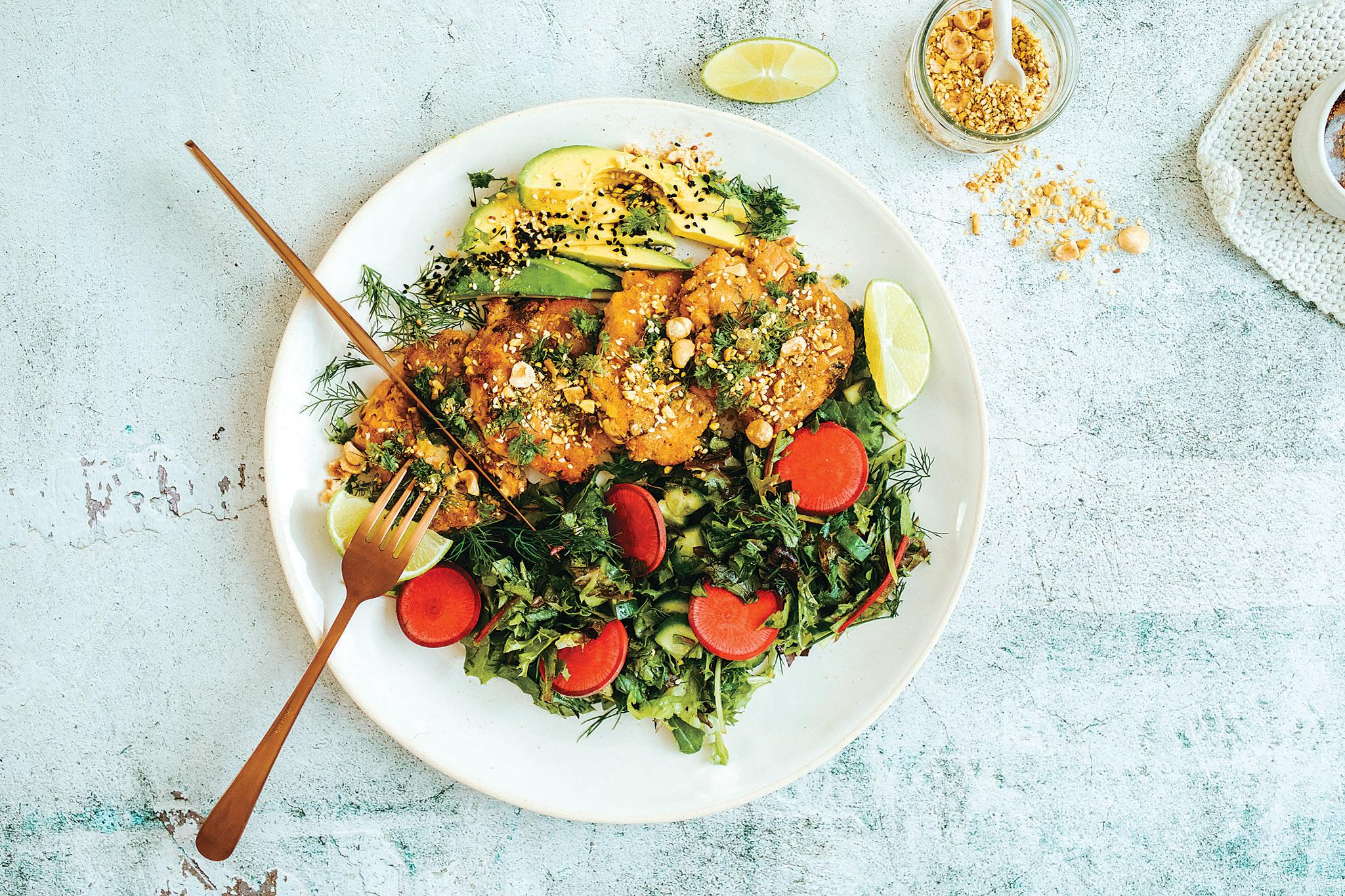 Page 6 of Salmon Fish Cakes with Mixed Herb Salad