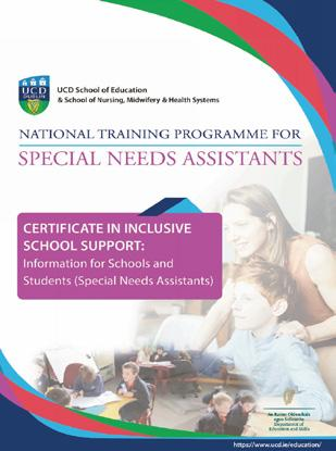Page 8 of NEWS: Programme for Special Education announced by minister; New National Training Programme for SNAs
