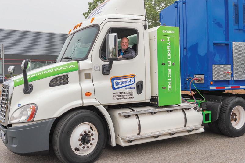 Page 38 of RETURN-IT FIRST IN CANADA TO DEPLOY CNG HYBRID-ELECTRIC COMPACTION TRUCKS FOR RECYCLABLES