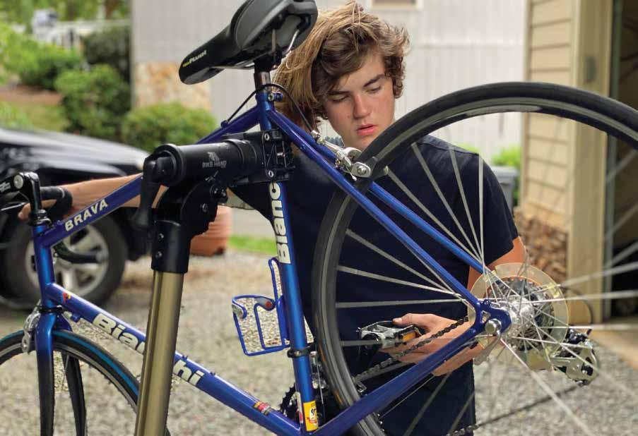 Page 22 of Huntersville student sees need for bike repair service