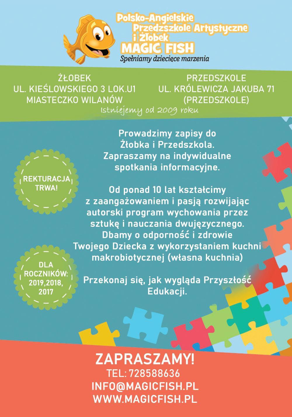 Page 20 of Wychowanie przez sztukę w polsko-angielskim przedszkolu Magic Fish