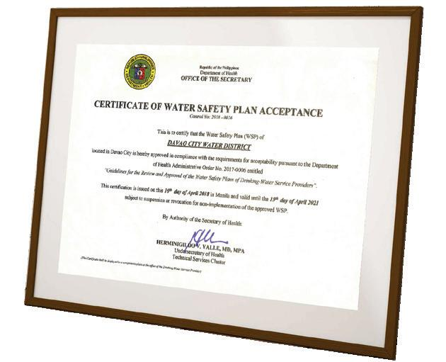 Page 7 of DCWD is FOI Champion among WDs DOH confers DCWD with WSP acceptance certificate