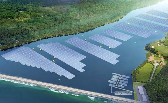 Page 22 of Construction of floating solar photovoltaic system commences The project will enable the integration of green technology with water treatment