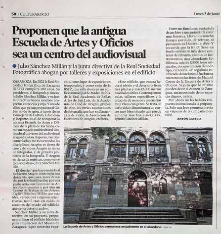 Page 16 of Reflexiones sobre el centro audiovisual de Aragón. Julio Sánchez