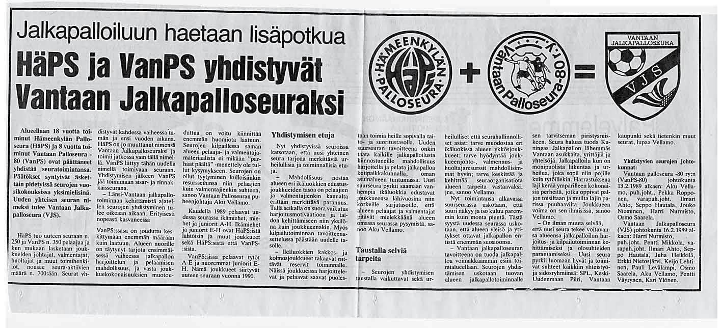 Page 6 of Juhlavuosi – Länsi-Vantaan ylpeyden ensimmäiset 50 vuotta