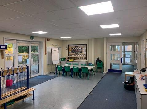 Page 40 of West Borough Primary School has significantly reduced its annual energy consumption following an LED lighting upgrade