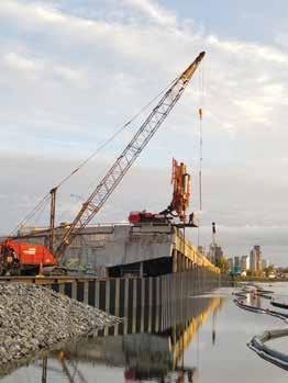 Page 32 of Nucor Skyline adds strength to Canal de l'Aqueduc with new bulkhead wall