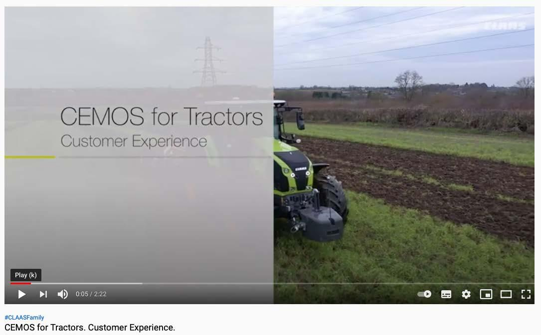 Page 22 of CEMOS for Tractors aids AXION 870 productivity