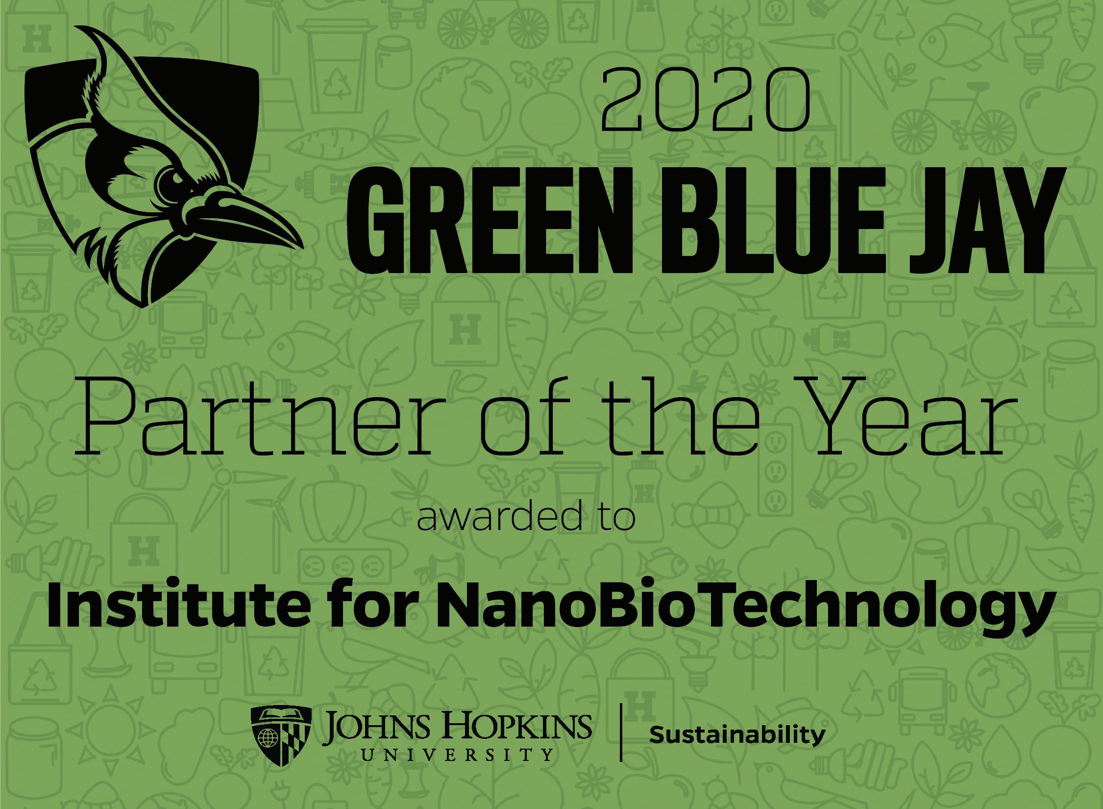 Page 26 of The INBT Recognized with Green Blue Jay Award