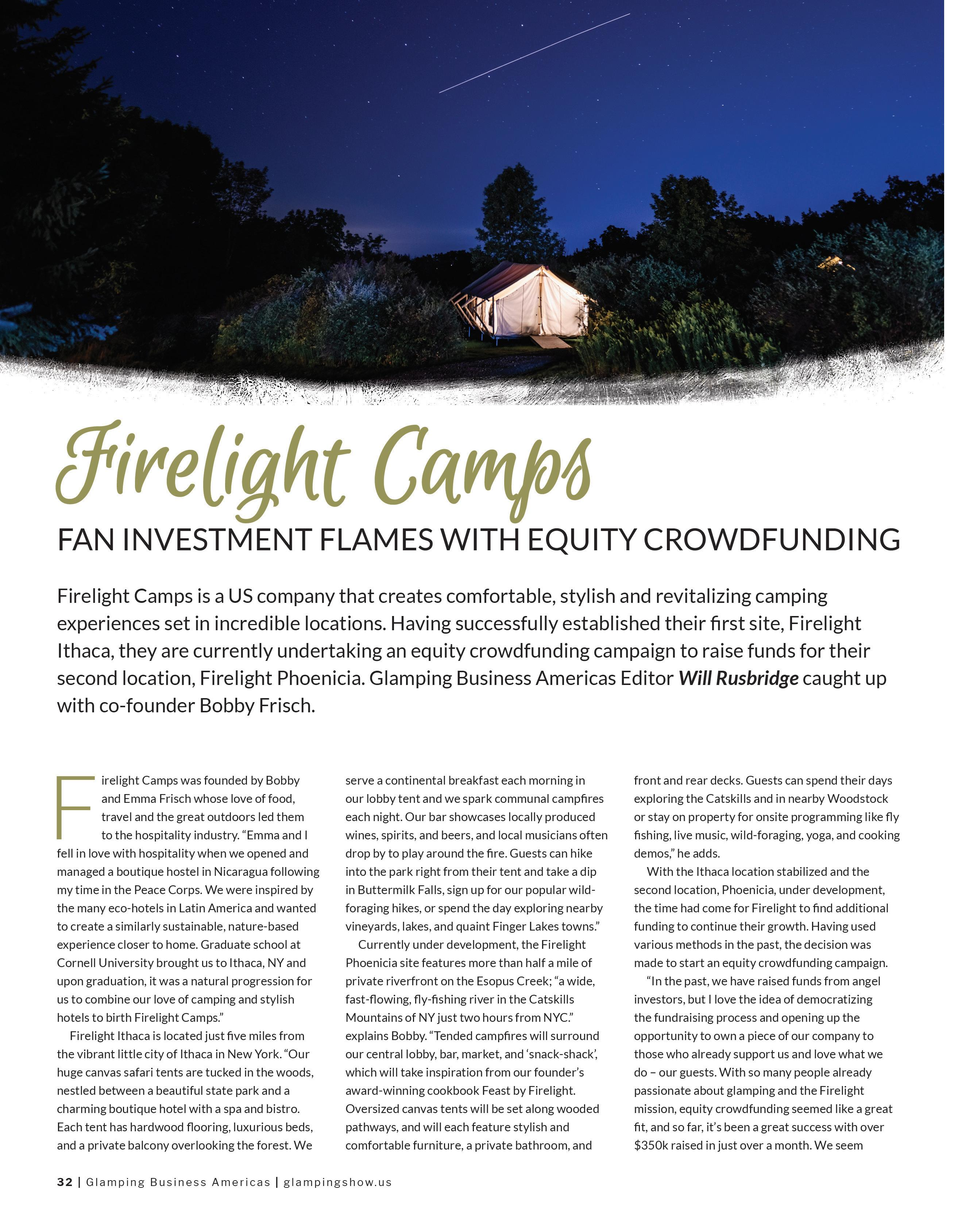Page 32 of Firelight Camps; fan investment flames