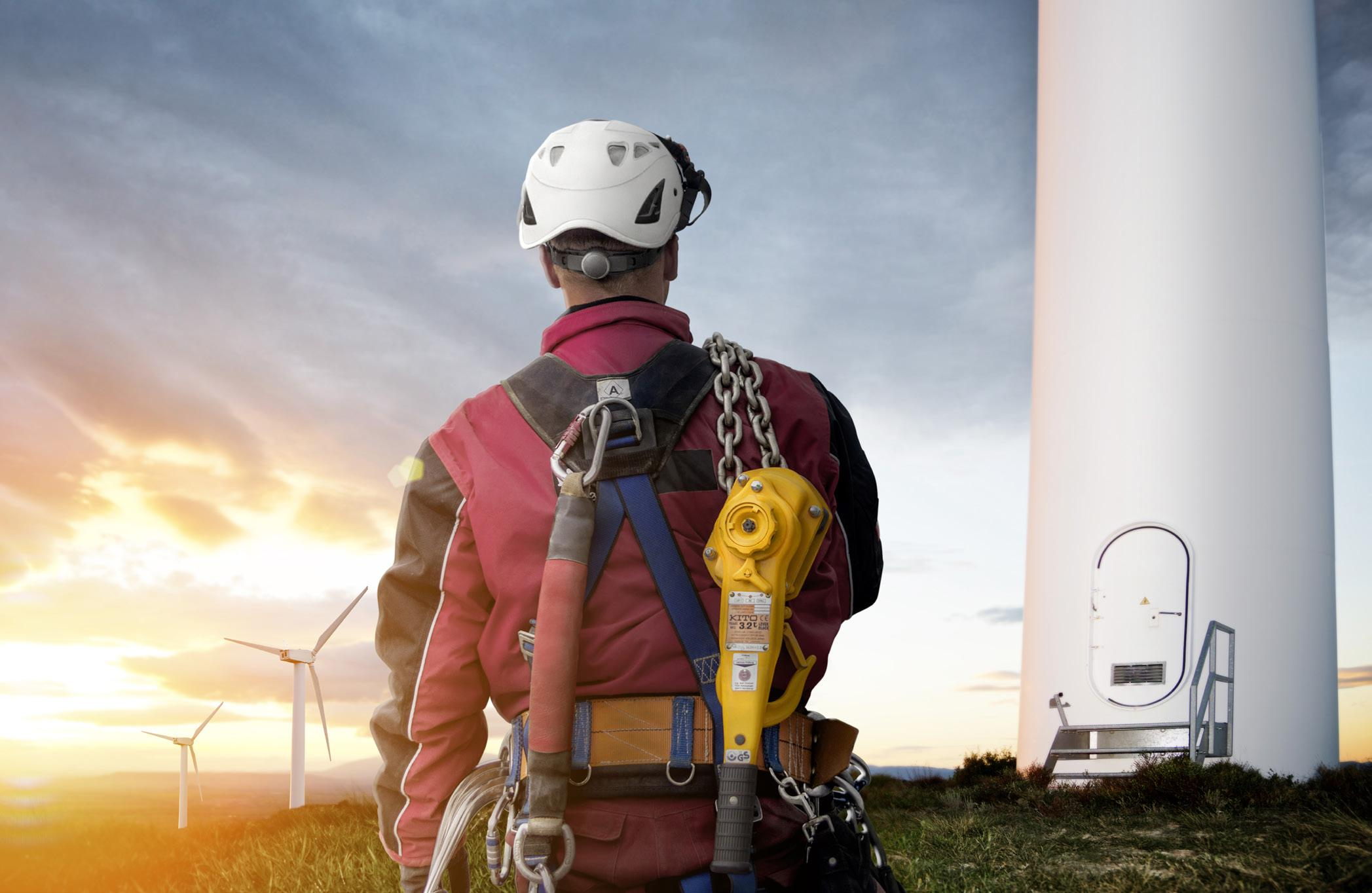 Page 12 of Becker's high-performance Kito electric chain and manual hoists ensure reliability and safety in the wind power sector