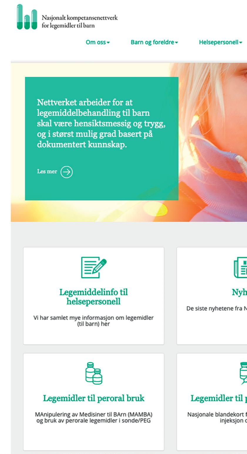 Page 40 of Legemidler og utstyr: www.legemidlertilbarn.no – en gullgruve