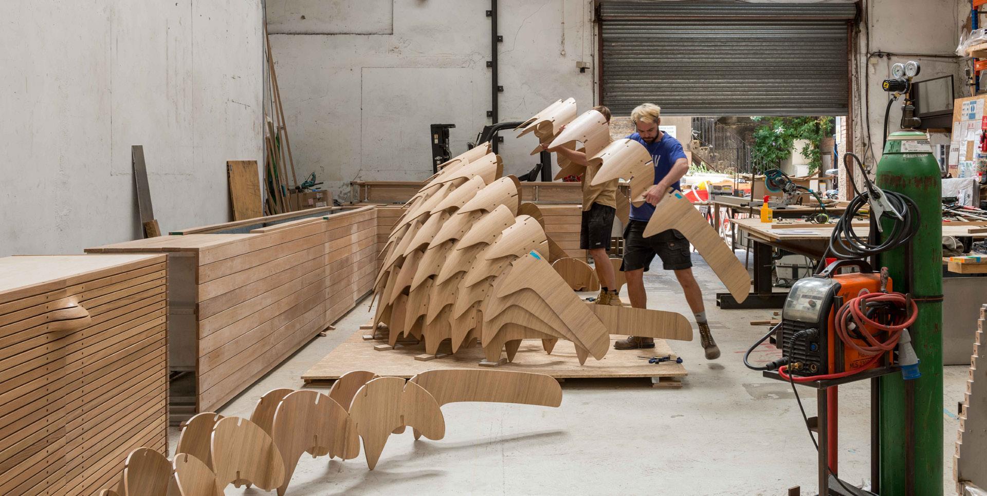 Page 26 of Fabrication: London Timber Pavilion