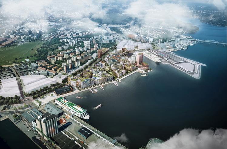 Page 40 of Stockholms baksida blir framsida när stadsdelen Värtahamnen står färdig 2030