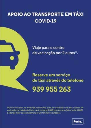 Page 23 of Porto disponibiliza transporte em táxi para vacinação por 2 euros