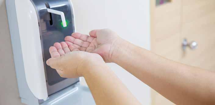 Page 9 of The height of hand sanitiser dispensers in