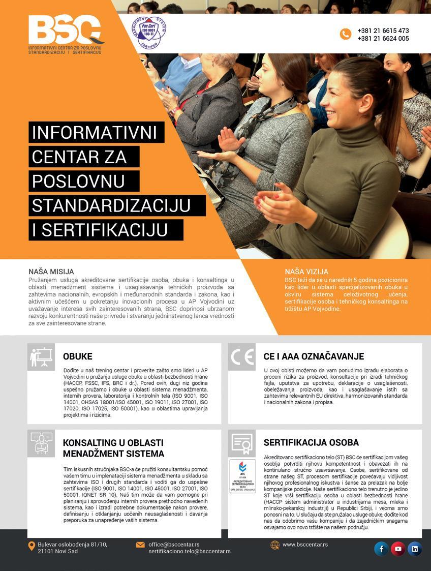 Page 24 of BSC Informativni centar za poslovnu standardizaciju i sertifikaciju, Novi Sad