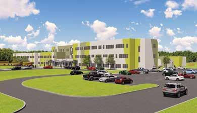 Page 38 of currently undergoing expansion project New Hanwell K-8 school proceeding on schedule manufacturing and installing resinous flooring
